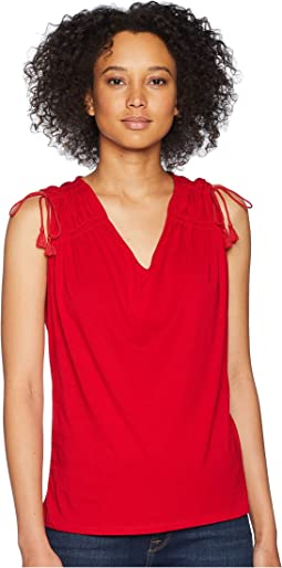Ruched Shoulder Tank Top
