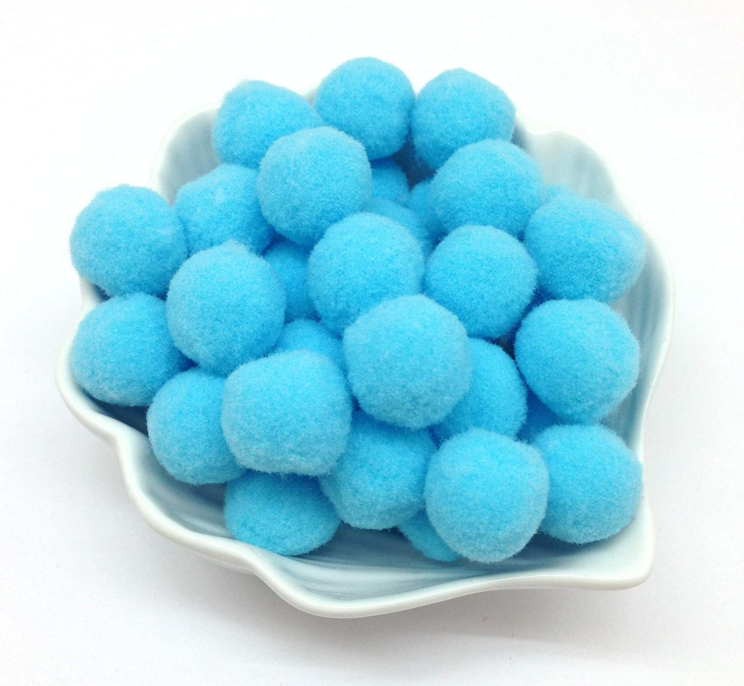 Khaki PEPPERLONELY 100PC 20mm Fluffy Craft Pom Pom Balls for DIY Creative Crafts Decorations Kids Craft Project Home Party Holiday Decorations