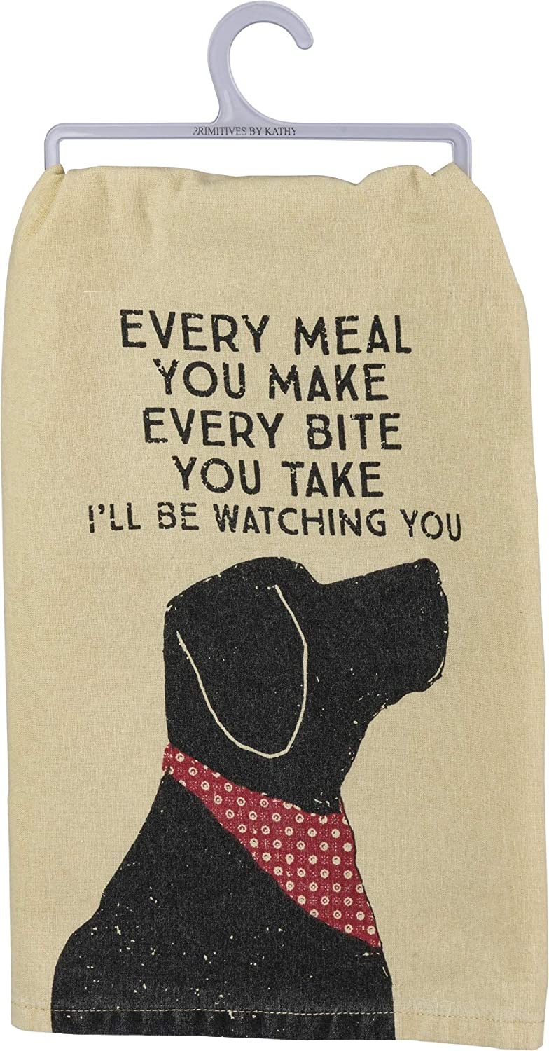 Primitives By Kathy Rustic Dish Towel 28 X 28 I Ll Be Watching You Home Kitchen