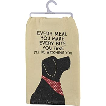 "Primitives by Kathy Rustic Dish Towel, 28"" x 28"", I'll Be Watching You"