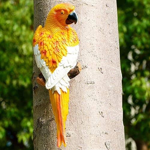 "popular Simulation Parrot Bird online sale Sculpture, Wall Hanging Decoration Handmade Resin Crafts,Half outlet online sale Side Lifelike Sculpture Ornament Garden Decor Statues Figurines, 12"" sale"