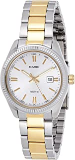 Casio Men's Silver Dial Stainless Steel Analog Watch - LTP-1302SG-7AVDF