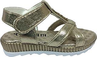 Tipiş Tipiş Cassy Patik Kiz Çocuk Sandalet Dore Simli Parlak Taşli Topuklu Abiye