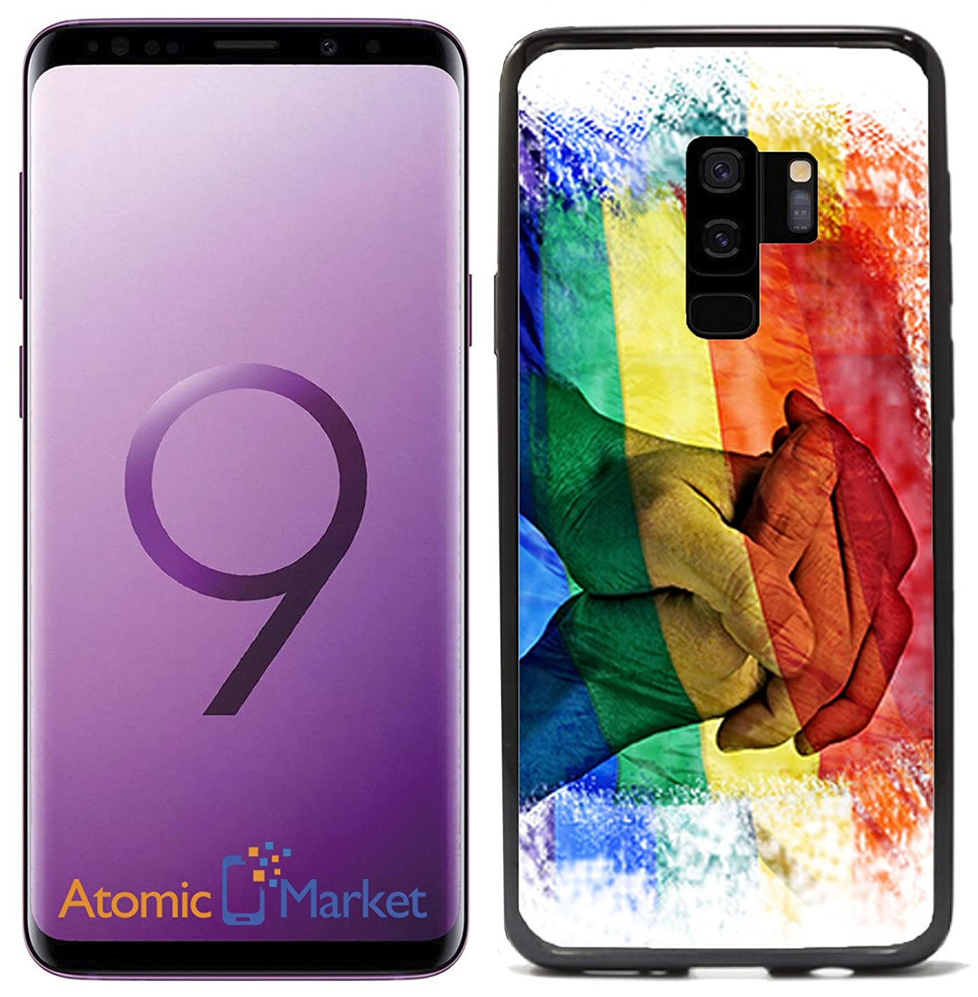 Rainbow Flag Equal Rights for Samsung Galaxy S9 Plus + 2018 Case Cover by Atomic Market