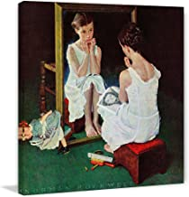 Marmont Hill Norman Rockwell Prints on Canvas Girl at Mirror Art Print, 24 by 24