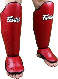 Fairtex Competition Shin Guards - Red - Medium