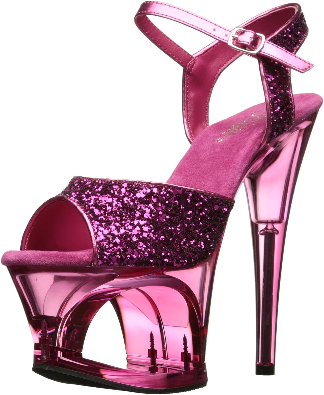 Pleaser Womens Moon710gt Hpg Pn Platform Sandal
