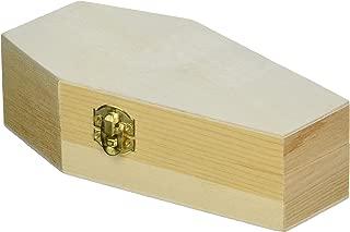 miniature wooden coffin