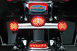 Kuryakyn 5420 Motorcycle Lighting: Deluxe Panacea LED Taillight with License Plate Illumination Light for 1994-2013 Harley-Davidson Motorcycles, Red Lens