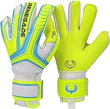 Renegade GK Vulcan Goalie Gloves (Sizes 6-11, 3 Styles, Level 3) Pro-Tek Fingersaves, 4mm Hyper Grip   Excellent Goalkeeper Glove for Higher Level Play   Superior Grip & Protection   Based in The USA