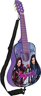 Lexibook Disney The Descendants Mal Acoustic Guitar, Mediator and Guitar Strap provided, 6 Nylon Cords, Learning Guide Included, Purple, K2000TD