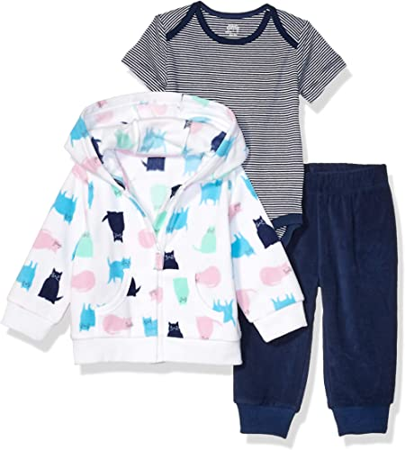 Essentials 3-Piece Microfleece Hoodie Set Unisex-Bimbi 0-24