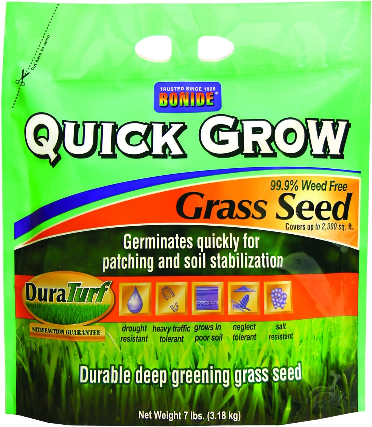 Bonide 60264 Quick Grow Shipping included 55% OFF 7-Pound Seed Grass
