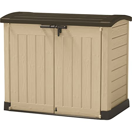 Keter M291820 Store It Arc 120 Boîte de rangement d'extérieur en résine