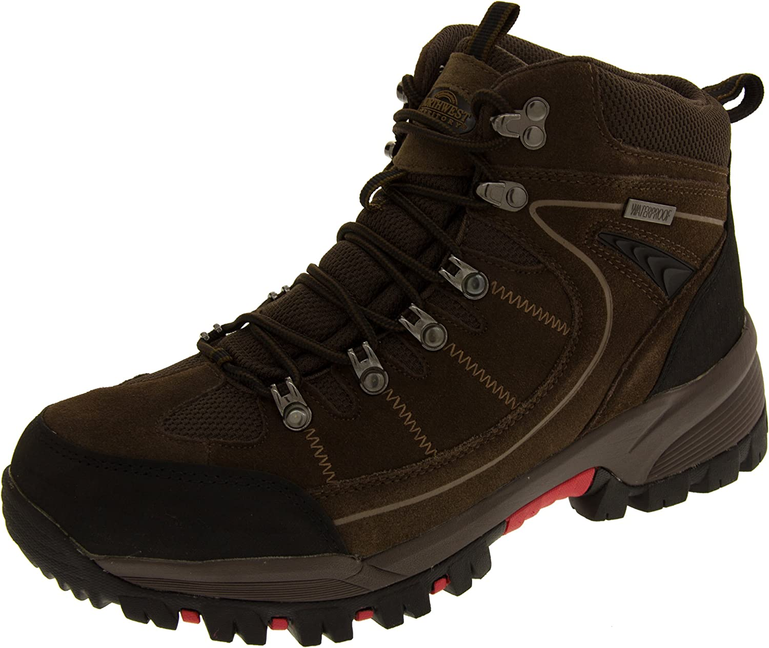 Northwest Territory Mens Leather Suede Waterproof Hiking Boots