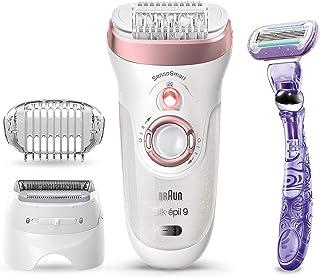 Braun Epilator for Women, Silk-épil 9 9-870 for Hair Removal, Wet & Dry, Facial Hair Remover,...