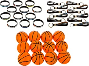 GRANNUS Basketball Party Favors,Pack of 36 Basketball Gifts Including 12x Motivational Silicone Bracelets,12x Squishy Stre...