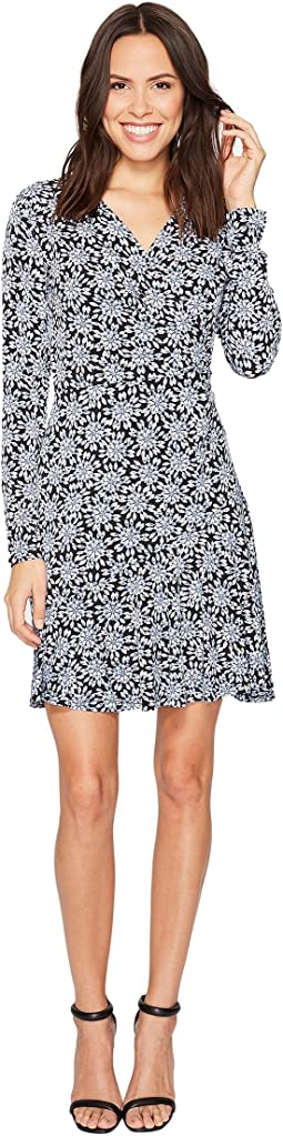MICHAEL Michael Kors - Long Sleeve Wrap Flounce Dress