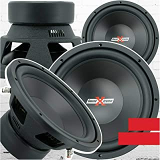 $89 » 2X SoundXtreme ST-412 Premium Elite 12 Inch Car Audio Subwoofer 4000 Watts Max Power for Pair Dual 4 Ohm Voice Coil High P...