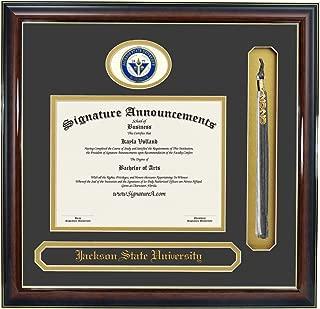 Signature Announcements Jackson-State-University Doctorate Sculpted Foil Seal, Name & Tassel Graduation Diploma Frame 16