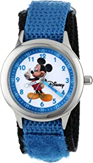 Disney Kids' W000011 Mickey Mouse Stainless Steel Time Teacher Watch