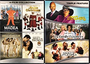 Family + Faith + Madea- I Don't Want To Do Wrong/ The Family That Preys/ Daddy's Little Girls & Madea Goes To Jail// A Madea Christmas/ Single Moms Club/ Meet The Browns (2-DVD 7 Movie Collection)