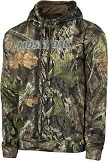 Mossy Oak Men's Camo Performance Fleece Brand Hoodie Pullover in Multiple Patterns