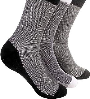 Pierre Donna Men's Crew Socks Breathable Casual Socks - 100% Cotton