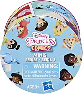 Disney Princess Comics 2-Inch Collectible Dolls, Doll Surprise Blind Box with Disney Princess Characters, Series 3- One As...
