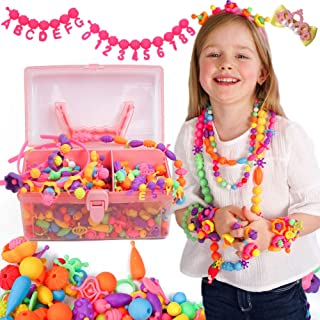 Axel Adventures Snap Pop Beads - 520+PCS - Letters & Numbers - Snap Beads for Kids Crafts   Kids Jewelry Making Kit for Girls  Crafts for 4 Year Old Girls  Beads for Jewelry Making Kids  Toddlers +