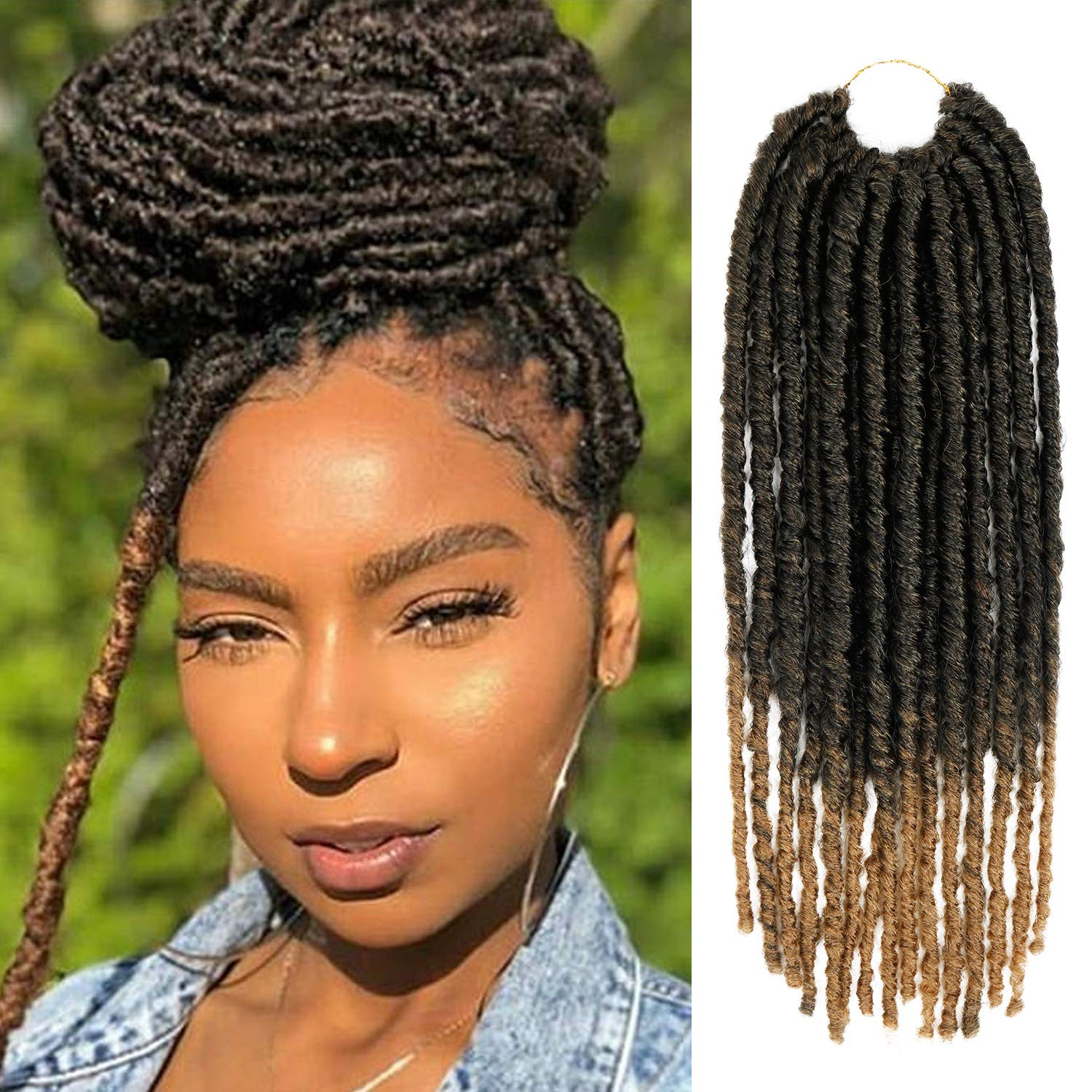 18 Inch AU-THEN-TIC Faux Locs Crochet Braid Challenge the All stores are sold lowest price Lock Brai Hair Dread