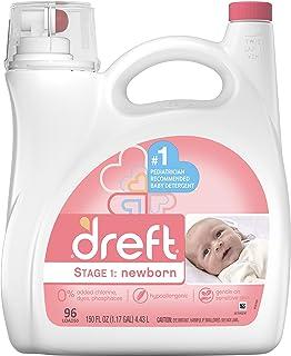 Dreft Dreft Stage 1: Newborn Liquid Detergent, 96 Loads, 150 Fl Oz