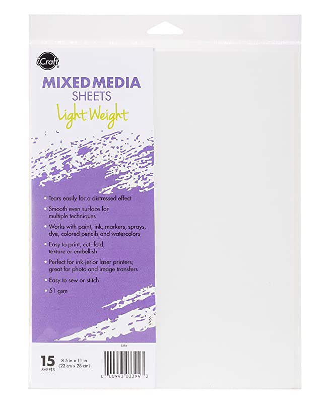 iCraft Mixed Media Sheets Lightweight