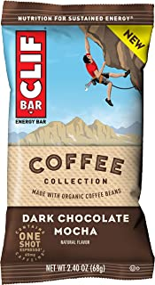 CLIF BARs with 1 Shot of Espresso - Energy Bars - Coffee Collection - Dark Chocolate Mocha -65 mgs of Caffeine Per Bar (2....