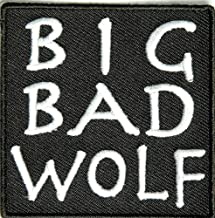 Big Bad Wolf Patch - By Ivamis Trading - 2.5x2.5 inch - Embroidered Iron on Patch