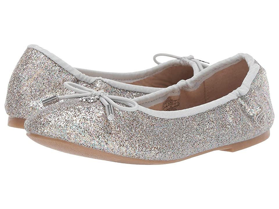 Sam Edelman Kids Felicia Ballet (Little Kid/Big Kid) (Silver Gasoline) Girls Shoes