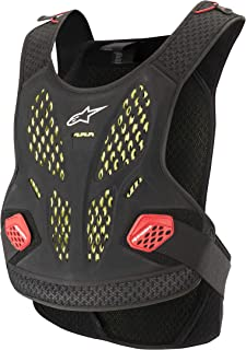 Alpinestars A-10 Full Chest Protector-Anthracite//Black//Red-XL//2XL