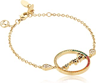 Just logo Evo Full Yellow Gold Color Bracelet with Colored Stones - JCBR00740400