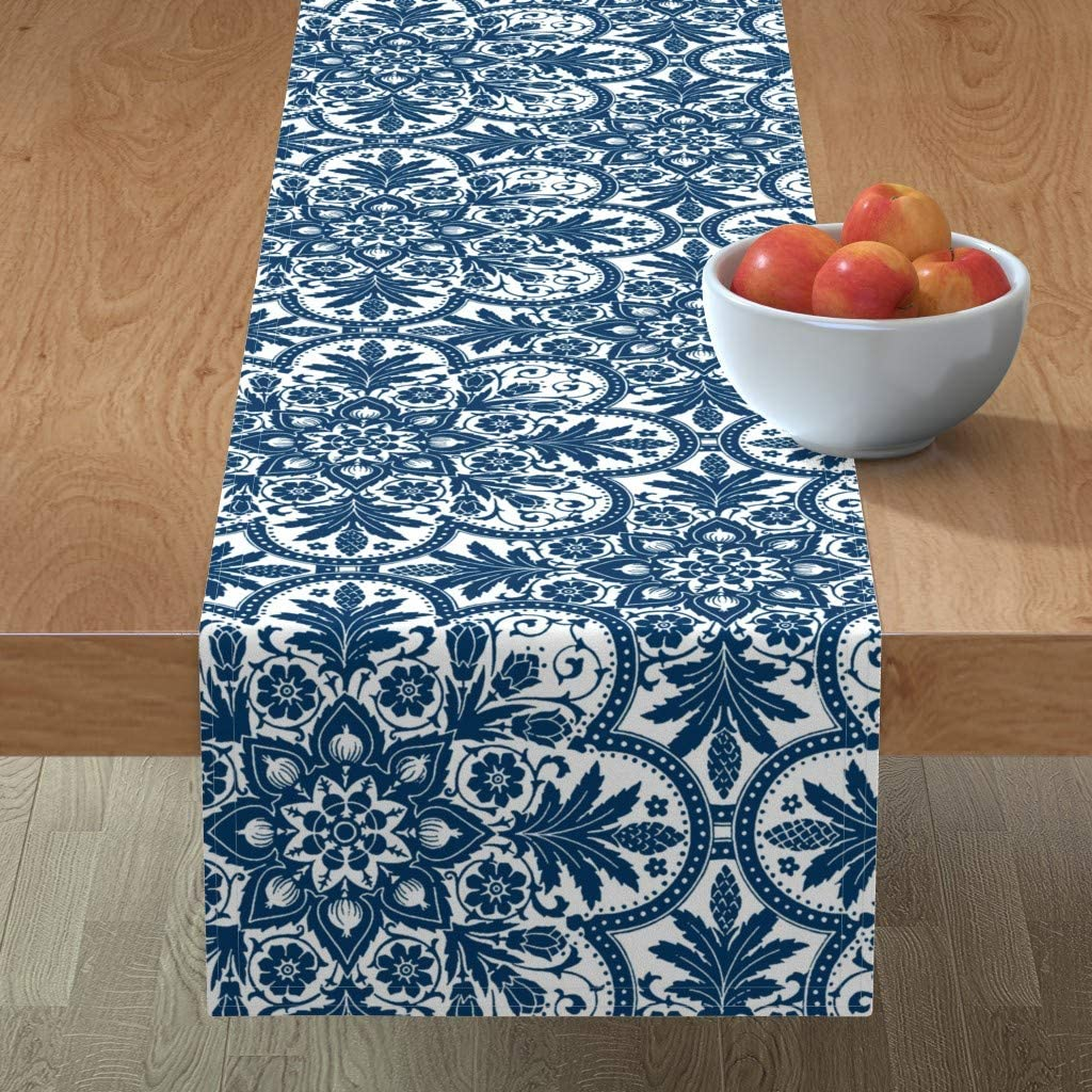 Ranking TOP7 Roostery Tablerunner Manufacturer regenerated product Tile Colonial Blue China Delft and C White