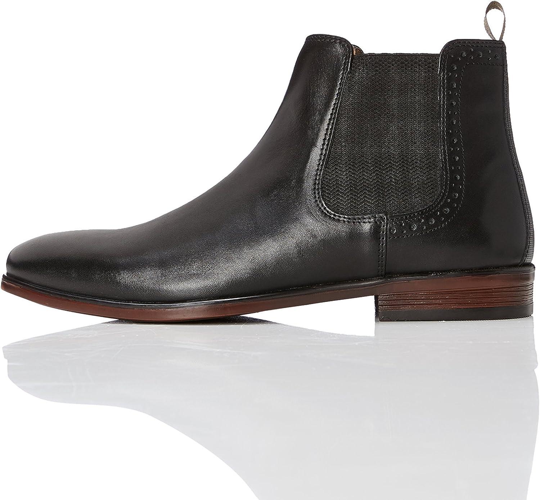 Find. Chelsea Stiefel Herren aus Glattleder mit Blockabsatz