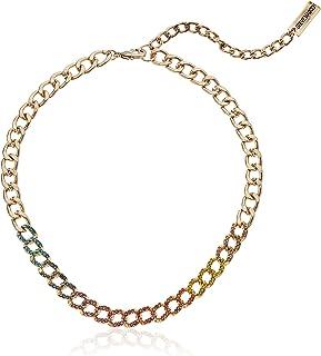 Steve Madden Women's Metallic Curb Chain Yellow Gold-Tone Choker Necklace