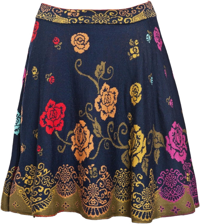 IVKO Skirt, Foral Pattern Marine
