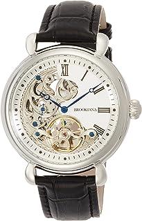 [ブルッキアーナ]BROOKIANA オリジン クレッシェンドムーン 自動巻き シルバー×ブラックレザー BA2602-SVWH メンズ 腕時計
