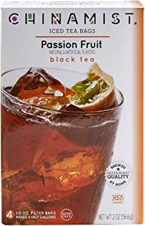 China Mist - Passion Fruit Black Iced Tea Bags - Each Tea Bag Yields 1/2 Gallon
