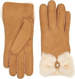 Bow Waterproof Sheepskin Gloves
