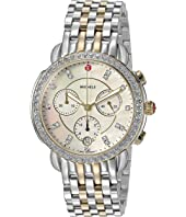 Michele - Sidney Diamond Bezel Two-Tone Stainless Steel Watch