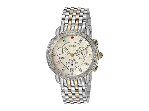 3dc309b90 Michele Sidney Diamond Bezel Two-Tone Stainless Steel Watch at ...