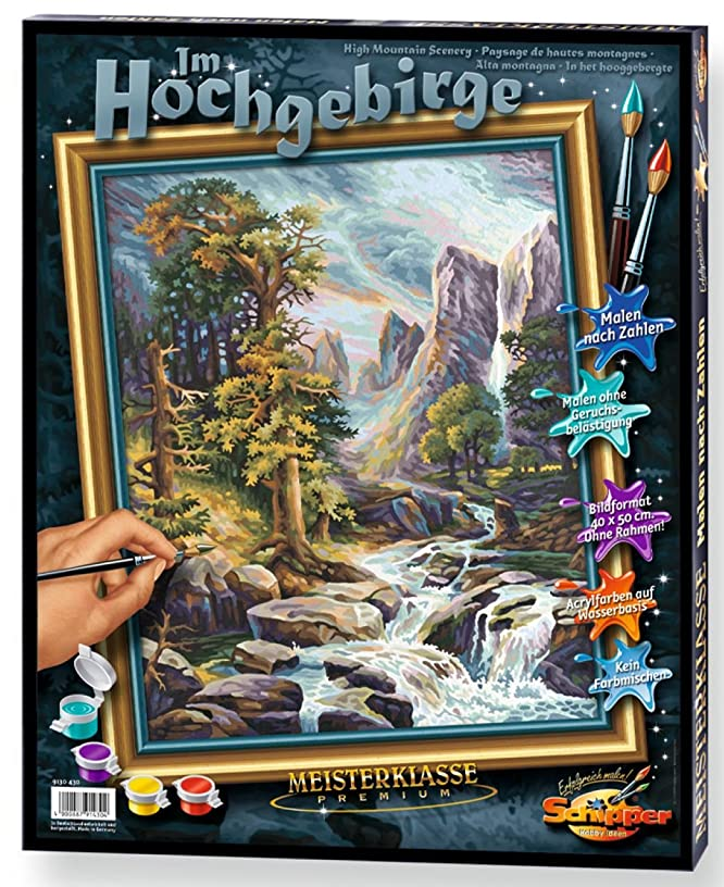 Norris Paint By#S: High Mountain Scenery Paint by#