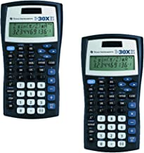 $29 » Texas Instruments TI-30X IIS 2-Line Scientific Calculator, Black with Blue Accents 2 Pack