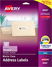 Avery Frosted Address Labels with Matte Finish, Great for Holiday Cards, 1